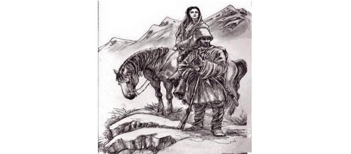 circassian man and woman